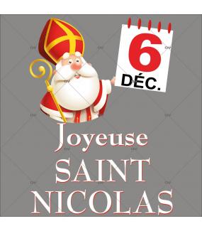 sticker-joyeuse-saint-nicolas-mitre-canne-calendrier-6-decembre-noel-theme-cartoon-vitrine-noel-electrostatique-vitrophanie-sans-colle-DECO-VITRES-SN3
