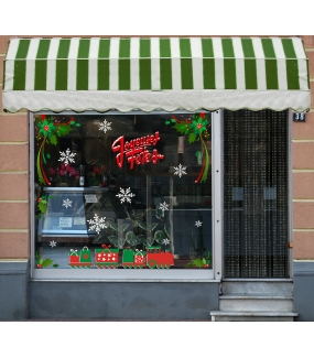 photo-sticker-angles-houx-rubans-petit-train-de-noel-paquets-cadeaux-cristaux-blancs-texte-joyeuses-fetes-rouge-enneige-old-school-decoration-vitrine-vitrophanie-electrostatique-sans-colle-reutilisable-DECO-VITRES