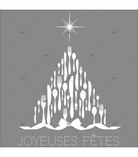 sticker-sapin-couverts-de-noel-texte-joyeuses-fetes-noeud-cadeau-blanc-noel-theme-gourmet-restaurant-vitrine-noel-electrostatique-vitrophanie-sans-colle-DECO-VITRES-SP38