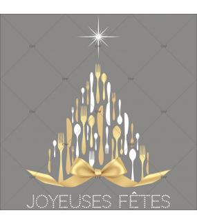 sticker-sapin-couverts-de-noel-texte-joyeuses-fetes-noeud-cadeau-dore-or-noel-theme-gourmet-restaurant-vitrine-noel-electrostatique-vitrophanie-sans-colle-DECO-VITRES-SP37