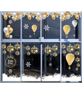 photo-sticker-ballons-or-argent-montgolfieres-boules-etoiles-frises-geante-cristaux-texte-joyeuses-fetes-noel-festif-decoration-vitrine-vitrophanie-electrostatique-sans-colle-reutilisable-DECO-VITRES