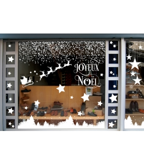 photo-sticker-frises-suspensions-traineau-renne-pere-noel-sapins-cristaux-neige-blancs-texte-joyeux-noel-etoile-decoration-vitrine-vitrophanie-electrostatique-sans-colle-reutilisable-DECO-VITRES