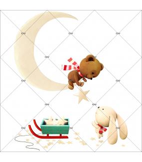 sticker-ourson-teddy-bear-croissant-de-lune-lapin-luge-etoiles-noel-theme-retro-vitrine-noel-electrostatique-vitrophanie-sans-colle-DECO-VITRES-OR12