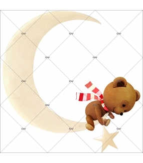 sticker-ourson-teddy-bear-croissant-de-lune-noel-theme-retro-vitrine-noel-electrostatique-vitrophanie-sans-colle-DECO-VITRES-OR11