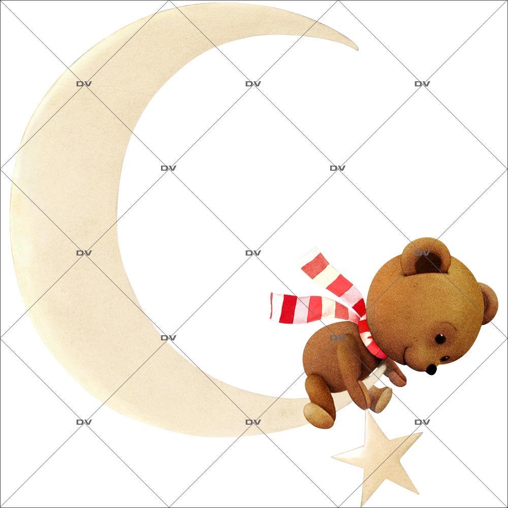 sticker-ourson-teddy-bear-croissant-de-lune-noel-theme-retro-vitrine-noel-electrostatique-vitrophanie-sans-colle-DECO-VITRES-OR11