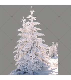 sticker-foret-de-sapins-enneiges-noel-theme-nature-polaire-paysage-givre-vitrine-noel-electrostatique-vitrophanie-sans-colle-DECO-VITRES-SP33D