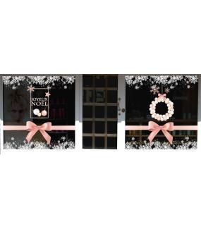 vitrine-noel-decoration-boudoir-poudre-beaute-noeuds-cadeaux-rose-vitrophanies-noel-electrostatique-sans-colle-stickers-DECO-VITRES