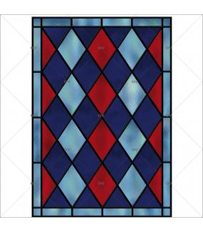 sticker-vitrail-effet-depoli-arlequin-losanges-bleu-rouge-geometrique-DECO-VITRES-VIT45