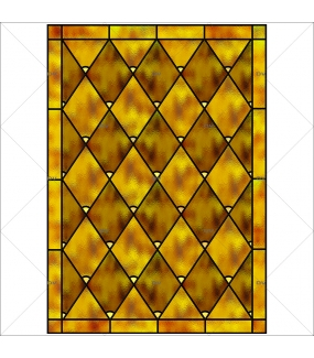 Sticker-vitrail-géométrique-losanges-or-ancien-vintage-retro-vitrophanie-électrostatique-sans-colle-repositionnable-réutilisable-ou-adhésif-décoration-fenêtres-vitres-DECO-VITRES