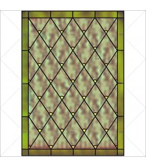 Sticker-vitrail-géométrique-losanges-bronze-ancien-vintage-retro-vitrophanie-électrostatique-sans-colle-repositionnable-réutilisable-ou-adhésif-décoration-fenêtres-vitres-DECO-VITRES