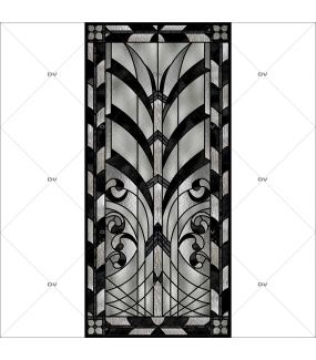 sticker-vitrail-art-deco-adhesif-effet-depoli-gris-noir-DECO-VITRES-VIT193