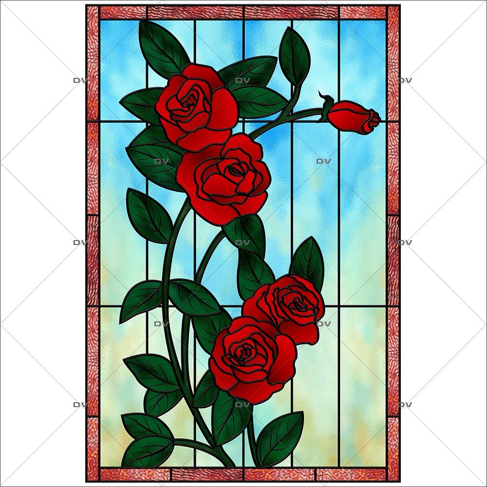 sticker-vitrail-roses-rouges-electrostatique-adhesif-effet-depoli-DECO-VITRES-VIT110