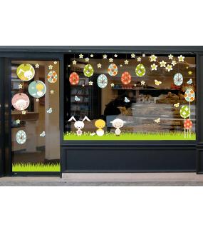 photo-sticker-medaillons-lapin-oeufs-agneau-poussin-papillons-suspensions-oeufs-texte-joyeuses-paques-multicolore-paques-decoration-vitrine-vitrophanie-electrostatique-sans-colle-reutilisable-DECO-VITRES
