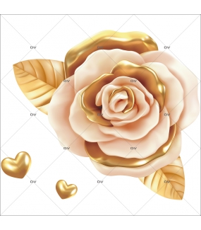 sticker-rose-doree-coeurs-or-electrostatique-sans-colle-repositionnable-DECO-VITRES-SV69D