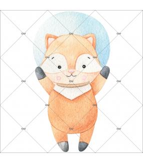 sticker-mural-renardeau-petit-renard-dans-l-espace-chambre-bebe-enfant-garcon-fille-tissu-adhesif-enlevable-sans-pvc-encres-latex-ecologiques-mural-DECO-VITRES-ST192