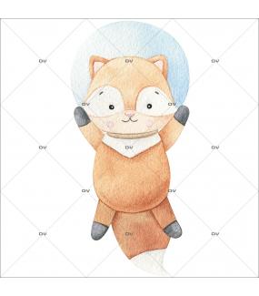 sticker-mural-renardeau-petit-renard-dans-l-espace-chambre-bebe-enfant-garcon-fille-tissu-adhesif-enlevable-sans-pvc-encres-latex-ecologiques-mural-DECO-VITRES-ST199