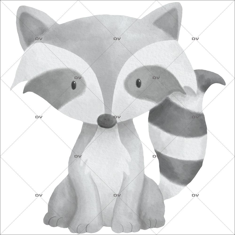 sticker-mural-petit-raton-laveur-chambre-bebe-enfant-garcon-fille-tissu-adhesif-enlevable-sans-pvc-encres-latex-ecologiques-mural-DECO-VITRES-ST193
