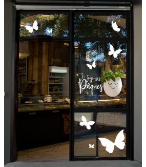 photo-vitrine-paques-boulangerie-patisserie-oeuf-decore-fresh-couronne-feuilles-olivier-papillons-texte-joyeuses-paques-vitrophanie-electrostatique-sans-colle-repositionnable-DECO-VITRES