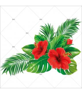 sticker-hibiscus-printemps-ete-fleurs-exotiques-electrostatique-recto-verso-repositionnable-DECO-VITRES-HIB1D
