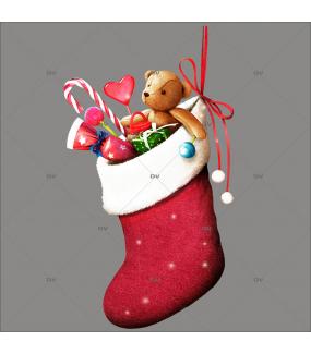 sticker-chaussette-de-noel-bonbons-gourmandises-jouets-retro-vitrophanie-vitrine-noel-electrostatique-sans-colle-DECO-VITRES-CHN1D