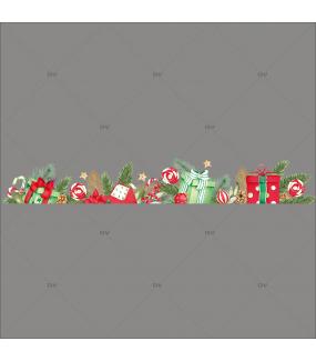sticker-frise-cadeaux-boules-houx-pin-etoiles-feuillages-vitrophanie-vitrine-noel-electrostatique-sans-colle-DECO-VITRES-FC9