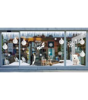 photo-sticker-ourson-polaire-pingouins-phoque-banquise-frises-glace-boules-givrees-cristaux-texte-joyeux-noel-nature-arctique-decoration-vitrine-vitrophanie-electrostatique-sans-colle-reutilisable-DECO-VITRES