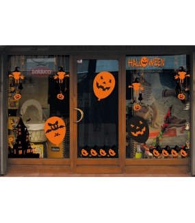 Sticker-Halloween-ballon-pirate-tête-de-mort-vitrophanie-décoration-vitrine-électrostatique-sans-colle-repositionnable-réutilisable-DECO-VITRES