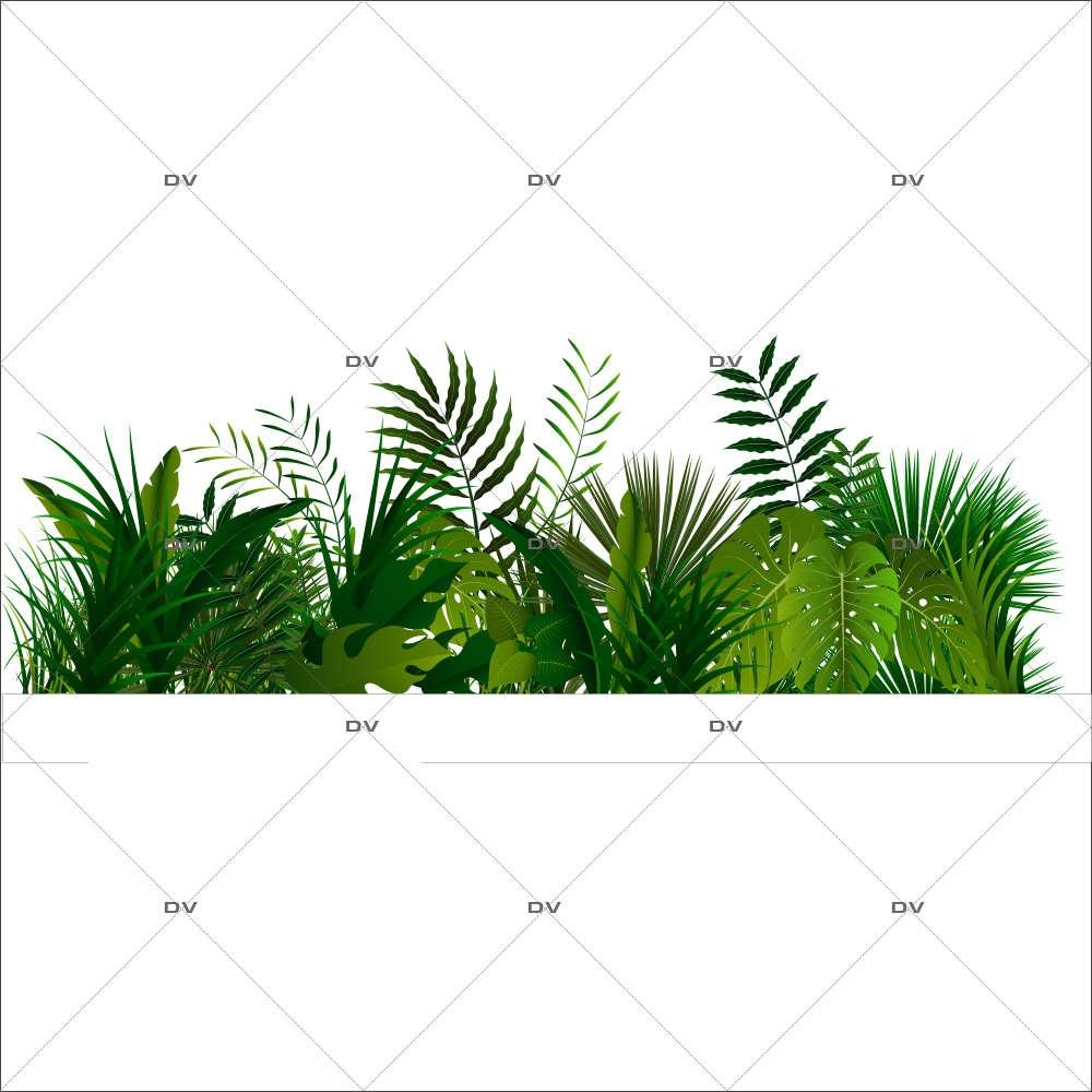 Sticker-frise-de-plantes-et-feuillages-exotiques-paysage-forêt-tropicale-été-vitrophanie-décoration-vitrine-estivale-électrostatique-sans-colle-repositionnable-réutilisable-DECO-VITRES