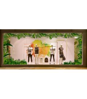 Sticker-angle-de-plantes-et-feuillages-exotiques-paysage-forêt-tropicale-été-vitrophanie-décoration-vitrine-estivale-électrostatique-sans-colle-repositionnable-réutilisable-DECO-VITRES