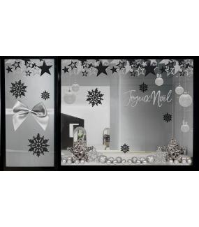 Sticker-texte-joyeux-noël-argent-vitrophanie-décoration-vitrine-noël-opticien-électrostatique-sans-colle-repositionnable-réutilisable-DECO-VITRES