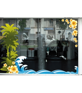 Sticker-frises-de-vagues-mer-stylisées-plage-vacances-été-vitrophanie-décoration-vitrine-estivale-poissonnerie-restaurant-bar-électrostatique-sans-colle-repositionnable-réutilisable-DECO-VITRES