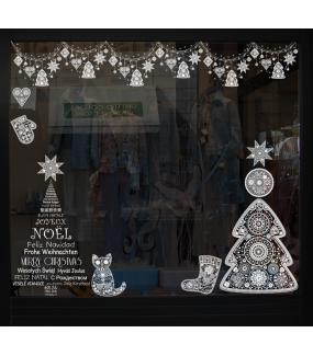 Sticker-frises-suspensions-guirlandes-boules-de-noël-sapin-coeur-étoile-russe-blanc-vitrophanie-décoration-vitrine-noël-électrostatique-sans-colle-repositionnable-réutilisable-DECO-VITRES