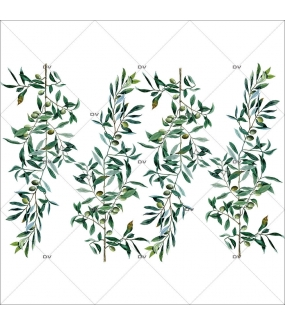 Sticker-branches-olivier-provence-arbre-olives-printemps-été-vitrophanie-décoration-vitrine-estivale-printanière-électrostatique-sans-colle-repositionnable-réutilisable-DECO-VITRES