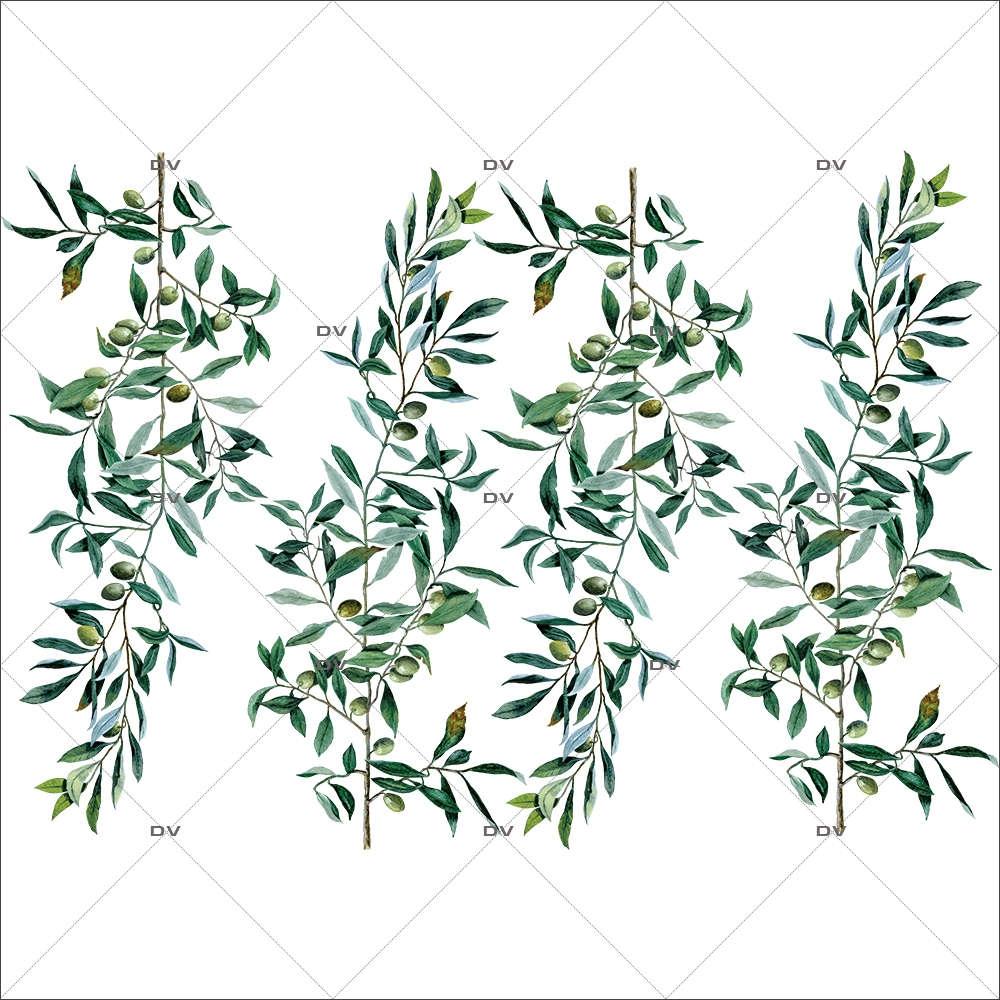 Sticker-branches-olivier-provence-arbre-olives-printemps-été-vitrophanie-décoration-vitrine-estivale-printanière-électrostatique-sans-colle-repositionnable-réutilisable-DECO-VITRES