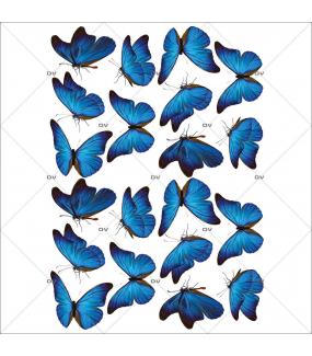 Sticker-papillons-bleus-insectes-printemps-animaux-été-vitrophanie-décoration-vitrine-printanière-estivale-électrostatique-sans-colle-repositionnable-réutilisable-DECO-VITRES