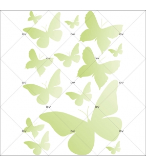 Sticker-papillons-verts-insectes-printemps-animaux-été-vitrophanie-décoration-vitrine-printanière-estivale-électrostatique-sans-colle-repositionnable-réutilisable-DECO-VITRES