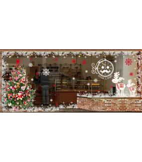 Sticker-frises-cristaux-de-neige-géants-flocons-blancs-paysage-hiver-vitrophanie-décoration-vitrine-noël-électrostatique-sans-colle-repositionnable-réutilisable-DECO-VITRES