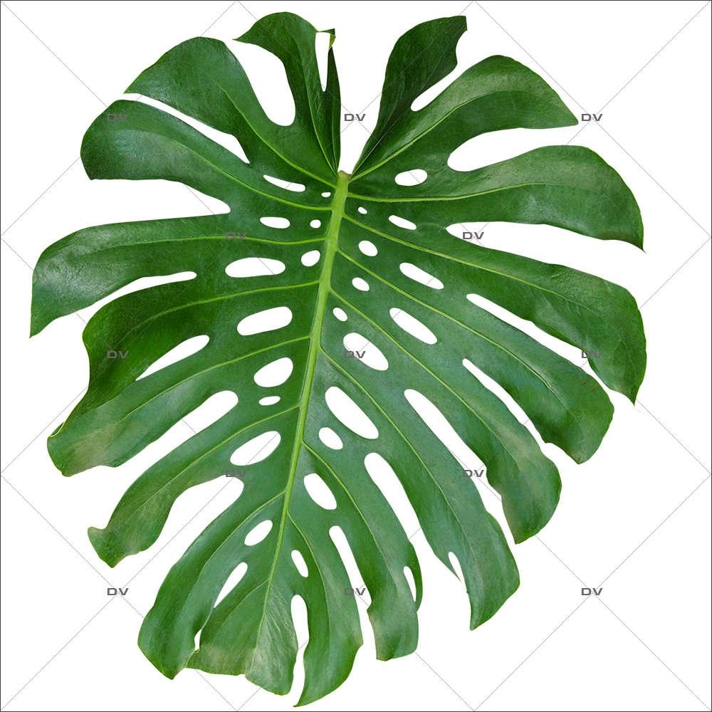 Sticker-feuille-de-philodendron-exotique-mer-vacances-tropical-été-vitrophanie-décoration-vitrine-estivale-électrostatique-sans-colle-repositionnable-réutilisable-DECO-VITRES