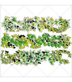 Sticker-frises-lierre-paysage-printemps-été-vitrophanie-décoration-vitrine-estivale-printanière-électrostatique-sans-colle-repositionnable-réutilisable-DECO-VITRES