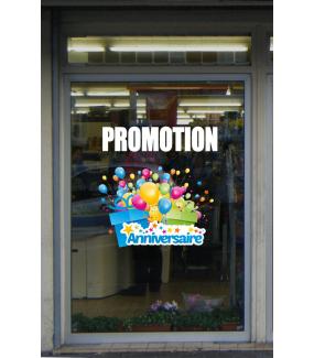 Sticker-promotion-texte-blanc-vitrophanie-décoration-vitrine-promotionnelle-électrostatique-sans-colle-repositionnable-réutilisable-DECO-VITRES
