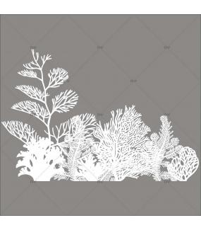 Sticker-algues-et-coraux-mer-vacances-été-vitrophanie-décoration-vitrine-estivale-poissonnerie-restaurant-électrostatique-sans-colle-repositionnable-réutilisable-DECO-VITRES