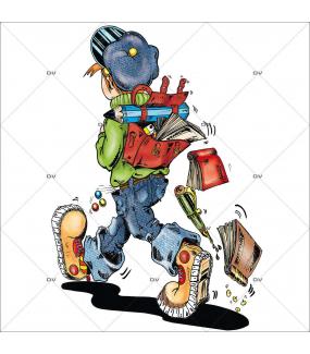 Sticker-écolier-cartable-école-rentrée-stylo-livre-vitrophanie-décoration-vitrine-rentrée-des-classes-électrostatique-sans-colle-repositionnable-réutilisable-DECO-VITRES