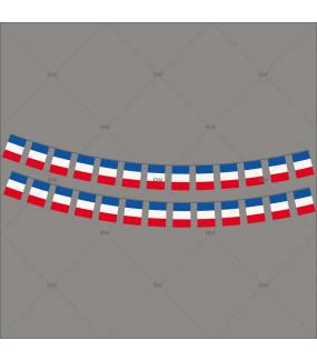 Sticker-frises-de-drapeaux-français-France-vitrophanie-décoration-vitrine-événementielle-électrostatique-sports-fêtes-sans-colle-repositionnable-réutilisable-DECO-VITRES