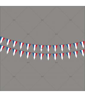 Sticker-frises-de-fanions-français-France-vitrophanie-décoration-vitrine-événementielle-électrostatique-sports-fêtes-sans-colle-repositionnable-réutilisable-DECO-VITRES