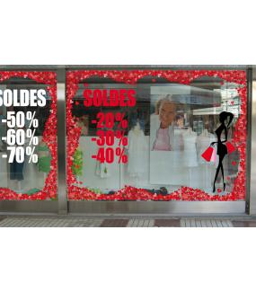 Sticker-soldes-rouge-vitrophanie-décoration-vitrine-promotionnelle-électrostatique-sans-colle-repositionnable-réutilisable-DECO-VITRES