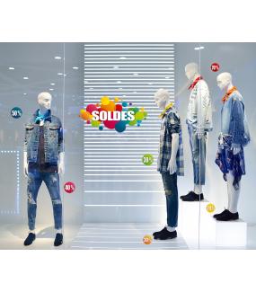 Photo-decoration-sticker-soldes-pourcentages-ronds-multicolores-vitrophanie-décoration-vitrine-promotionnelle-électrostatique-sans-colle-repositionnable-réutilisable-DECO-VITRES