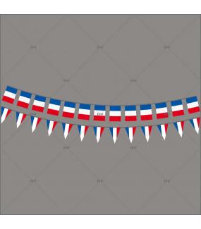 Sticker-frises-de-drapeaux-et-fanions-français-France-vitrophanie-décoration-vitrine-événementielle-électrostatique-sports-fêtes-sans-colle-repositionnable-réutilisable-DECO-VITRES