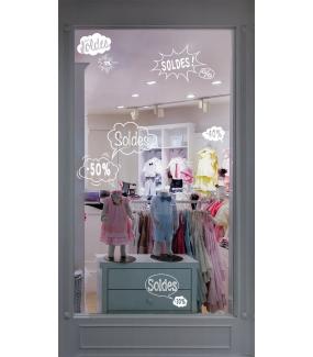 Sticker-bulles-éclatés-soldes-cartoon-blanc-vitrophanie-décoration-vitrine-promotionnelle-électrostatique-sans-colle-repositionnable-réutilisable-DECO-VITRES