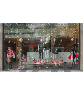 Sticker-sapin-textes-joyeux-noël-multilingue-international-blanc-vitrophanie-décoration-vitrine-noël-électrostatique-sans-colle-repositionnable-réutilisable-DECO-VITRES