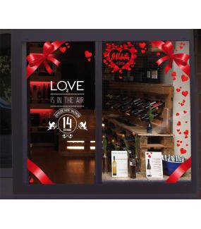 Sticker-bannière-texte-St-Valentin-blanc-coeurs-all-we-need-is-love-vitrophanie-décoration-vitrine-saint-valentin-boutique-lingerie-électrostatique-sans-colle-repositionnable-réutilisable-DECO-VITRES